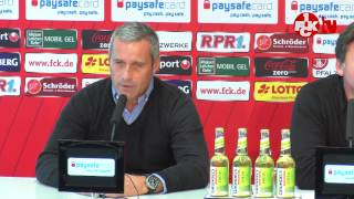 Pressekonferenz vor dem Auswärtsspiel in Nürnberg