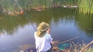 Tardé de pesca con lombris
