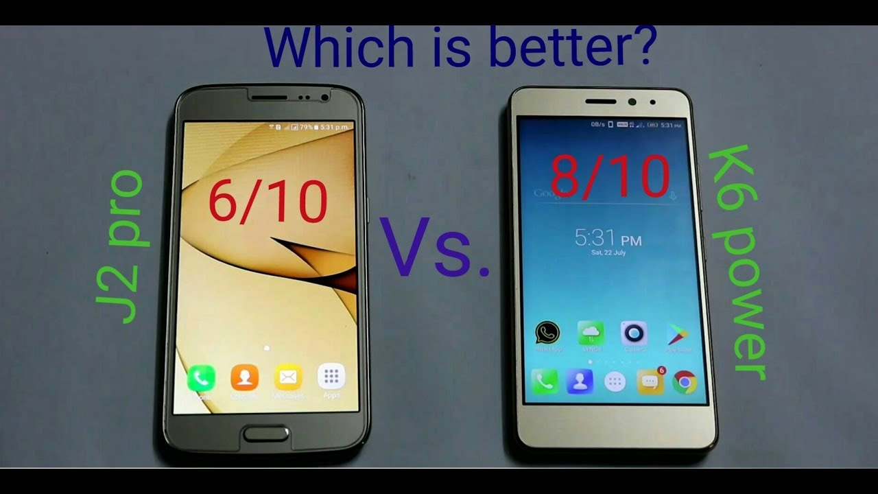 Lenovo K6 Power Vs Samsung Galaxy J2 Pro 2017 Speed Test Camera Test And Gaming Test