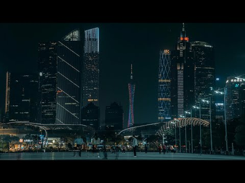 Guangzhou night walk 4K | Tianhe District