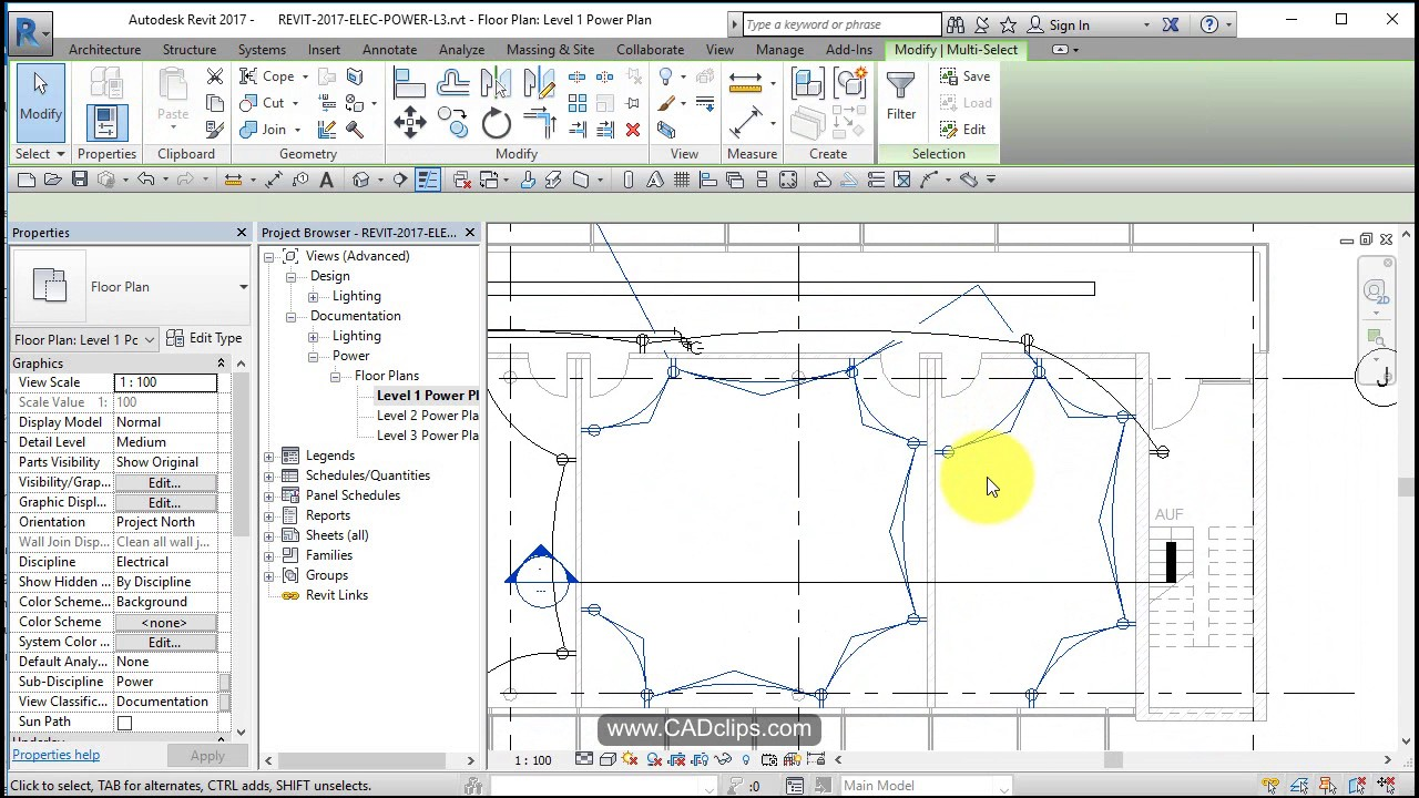 REVIT ELECTRICAL POWER 04 ADD WIRES AND HOME RUNS - YouTube