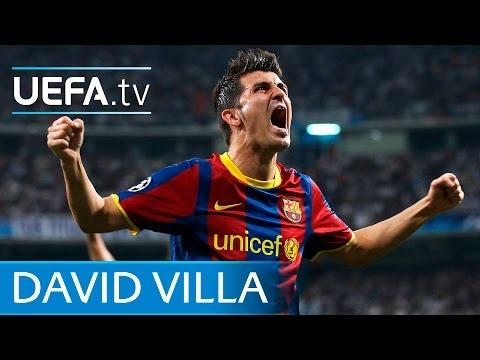 David Villa goal for Barcelona v Manchester United thumbnail