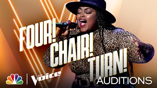 "Desz Gets a 4-Chair Turn Singing Toni Braxton's ""Unbreak My Heart"" - The Voice Blind Auditions 2020"