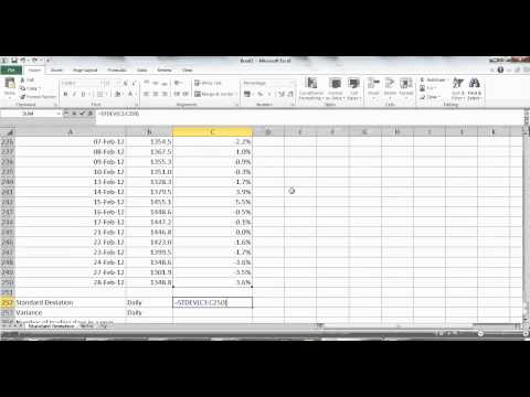 Calculating Annualized Standard Deviation From Stock Prices