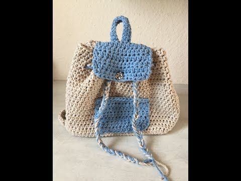 Tuto sac a dos au crochet