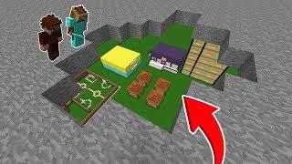 KİMSENİN BİLMEDİĞİ GİZLİ YER ALTI ŞEHRİ! - 😱 - Minecraft