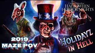 HHN Holidayz in Hell | Full Maze POV 2019 | Fan Preview Night (Opening Weekend)