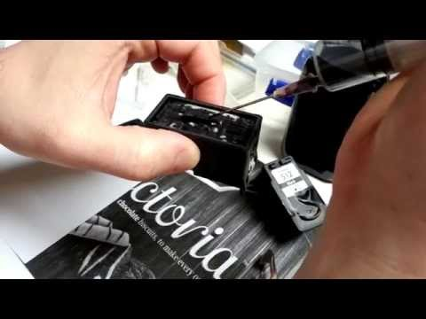 How to refill canon ink cartridge (best way)