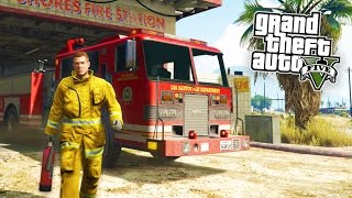 GTA 5 PC Mods - FIREFIGHTER MOD!!! Fighting Fires, CPR & Battalion Chief Mode! (GTA 5 Mods Gameplay)