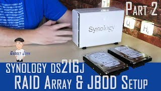 Synology DS216j review Part 2 | RAID and JBOD Drive Volume Setup instructions