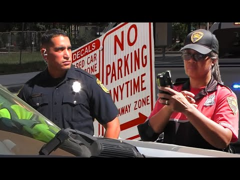 COP GETS PARKING TICKET IN SAN ANTONIO TEXAS