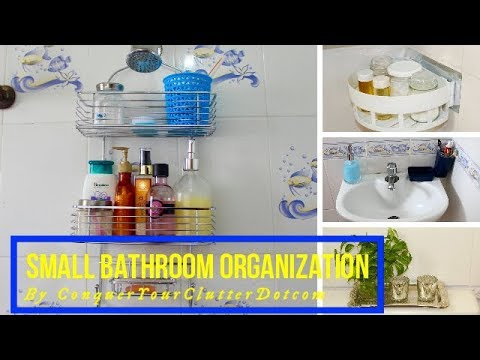 Small Bathroom Organization & Storage Ideas | Unfurnished Rental Friendly Decor Ideas