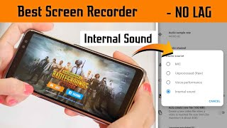 Best Screen Recorder For PUBG MOBILE No Lag | Record Internal Audio In PUBG 2Gb Ram Any Android