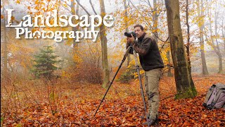 LANDSCAPE PHOTOGRAPHY in Denmark - Behind the scenes | Last chance for photographing the autumn