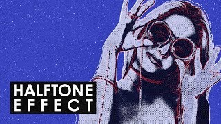 photoshop Tutorial: Create a Halftone Effect -HD