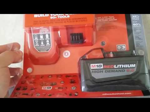 Milwaukee M18 9 amp hour battery and charger