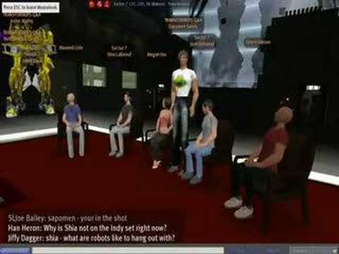 Transformers Second Life Virtual Press Conference