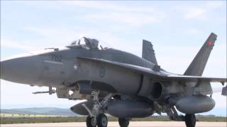 Canadian Forces CF-18s and support crews arrives in Romania