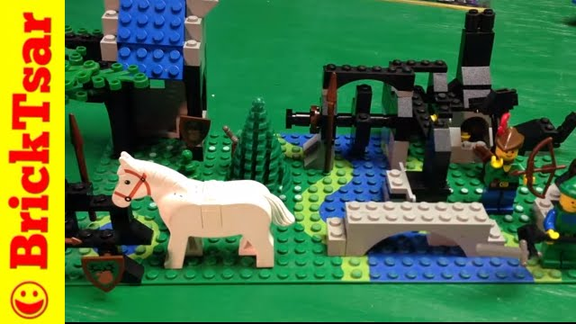 Lego Castle Forestmen Creation River Mill From Idea Book 260 Youtube