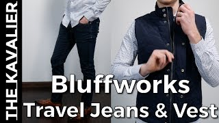 Bluffworks Travel Jeans & Performance Vest Unboxing