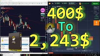 Indicator Atlas Forex & Binary Options Trading System in Action 🏆 400$ to 2243$ Real Money 🏆