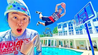 Basketball Trickshots at TeamRAR Mansion!