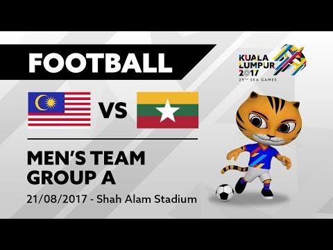 KL2017 29th SEA Games |  Men's Football - MAS 🇲🇾 vs MYA 🇲🇲 | 21/08/2017