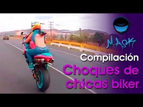 Compilación de Choques de Chicas Biker