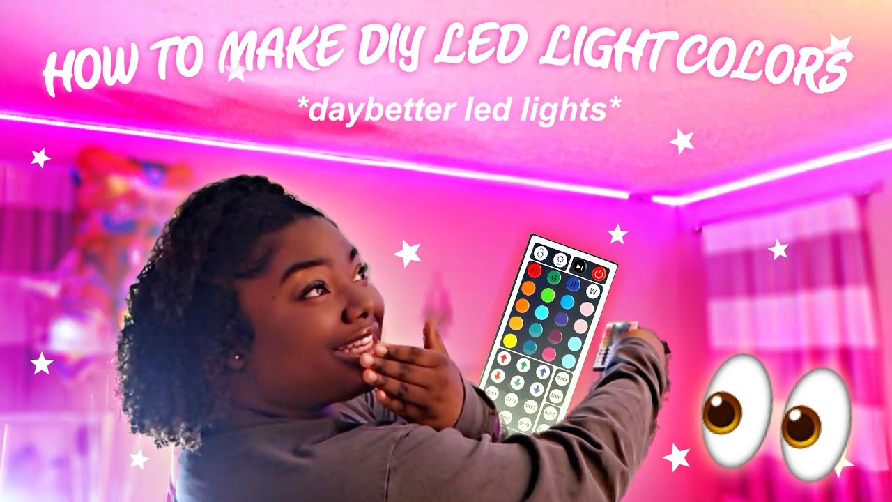 How To Make Diy Colors On Your Led Light Strips Daybetter Led Lights Youtube
