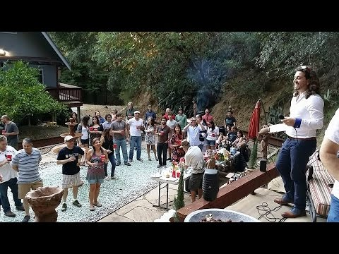 Amazing LIVE vocal performance by the tenor Mete in Los Gatos Hills