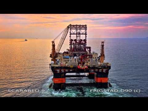 Scarabeo 9, the Ultra Deepwater Rig Photo & Video by Aerial Photographer Tommy Chia