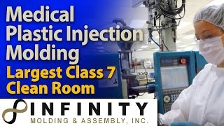 Medical Plastic Parts made in Clean Room - Infinity Injection Molded Plastic Parts