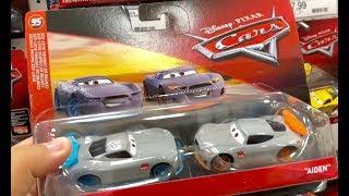Cars 3 Toys Hunt Jurassic World Kinder Eggs - 2018 Disney Pixar Cars 3 Next Gen Gabriel & Aiden 2 pk