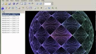 Making Fractal Apophysis Sphere / Wallpaper