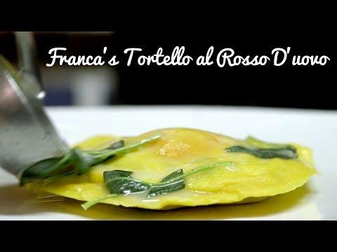 Franca Camerucci makes Tortello al Rosso D'uovo for Gabrielle Hamilton