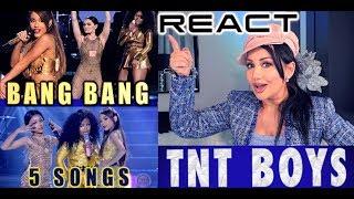 Vocal Coach REACTS to TNT Boys BANG BANG + 5 songs #Yourfacesoundsfamiliar | Lucia Sinatra