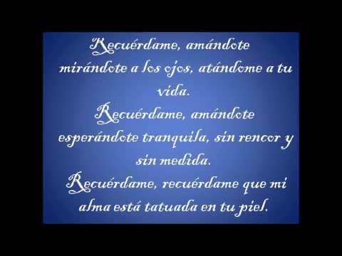 Recuérdame La Quinta Estación feat Marc Anthony Letra (Full HD)