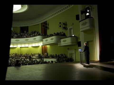 Nobel Laureate, Peter Agre, Moscow, Russia 2013