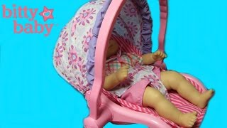 American Girl Bitty's Travel Seat Unboxing with Heather & Elsa BITTY BABY CHANNEL