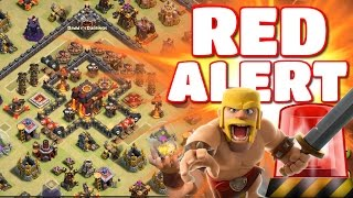 """Clash of Clans - """"RED ALERT BASE!"""" Epic Clan War Troll Base! Wins + Defensive Replays (Must See!)"""