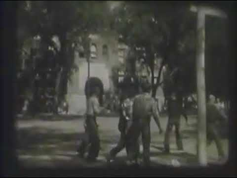 Sumner, Iowa welcomes Sumner Cubs home, 1954
