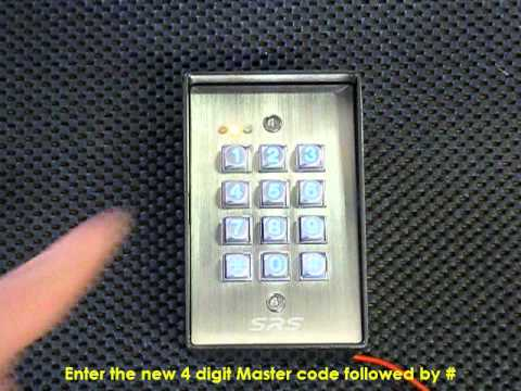 Dc60ss Access Control Keypad Changing The Master Code Youtube