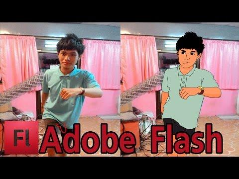 วิธีวาดรูปคนแบบการ์ตูน Adobe Flash