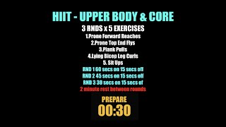 Week 14   HIIT Upper Body & Core
