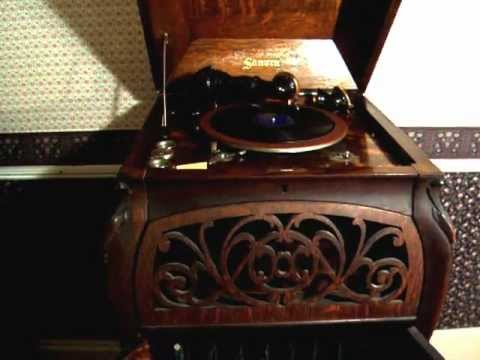 Demonstration of Sonora Elite Phonograph  Cabinet