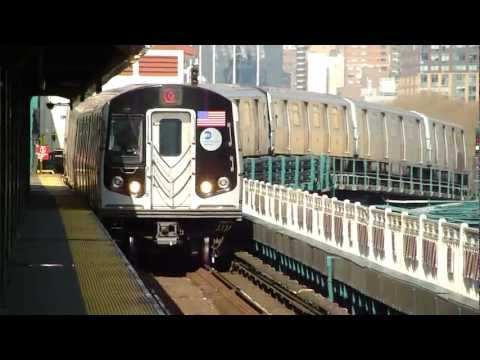 BMT Astoria Line: R160B/R160A-2 Q Train at Queensboro Plaza