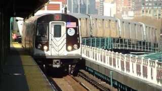 BMT Astoria Line: R160B/R160A-2 Q Train at Queensboro Plaza