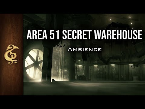 🎧 RPG / Sci-Fi Ambience - Zone 51 Secret Warehouse | Inventions, Mysteries, No Idiots Storming It
