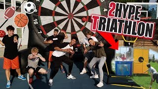 2Hype\'s FIRST EVER Backyard Sports Triathlon! ft. Tristan Jass & ThatWalker
