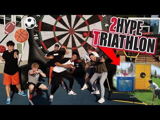 2Hype's FIRST EVER Backyard Sports Triathlon! ft. Tristan Jass & ThatWalker
